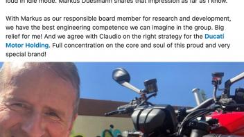 Moto - News: Herbert Diess: Ducati StreetFighter V4S: bellissimo pezzo d'arte italiano.