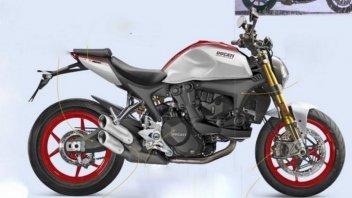 Moto - News: Ducati Monster 2021, senza telaio a traliccio potrebbe essere così