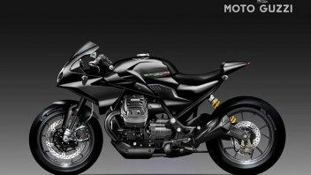 Moto - News: Moto Guzzi Black Eagle: la base della V85 TT per un concept di Bezzi