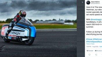 Moto - News: Max Biaggi pronto a superare i 330 km/h sulla Voxan Wattman