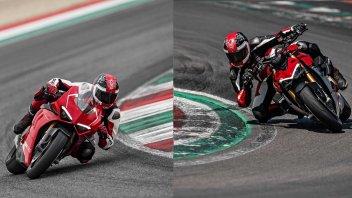 Moto - News: Ducati Panigale V4 R vs Streetfighter V4S, sfida in famiglia [VIDEO]