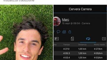 MotoGP: Dopo l'operazione Marc Marquez torna a correre... a piedi