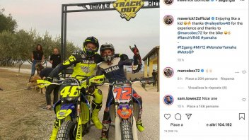 MotoGP: Il piloti Yamaha si allenano di traverso: Vinales al Ranch di Rossi