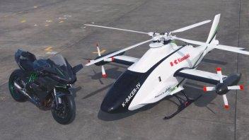 Moto - News: Kawasaki K-Racer: si vola con la Ninja H2R che diventa elicottero
