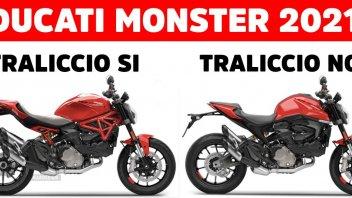 Moto - News: Volevate il traliccio sulla Ducati Monster 2021? Un designer vi accontenta