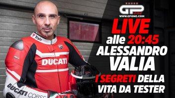 Moto - News: LIVE - Alessandro Valia alle 20:45: i segreti della vita da tester Ducati