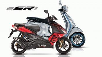 """Moto - Scooter: Aprilia: l'SR diventa elettrico? Registrato il nome """"eSR1"""""""