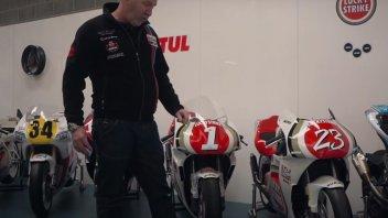 MotoGP: VIDEO - Nel garage Classic Suzuki, dove la 500 di Schwantz torna giovane