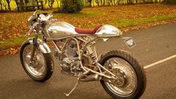 Moto - News: Ducati 750: la special scintillante di Jim Alonze