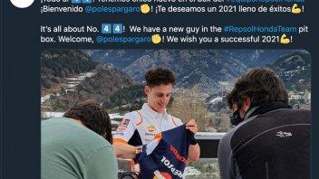 MotoGP: Pol Espargarò: first appearance as Honda rider in the snow