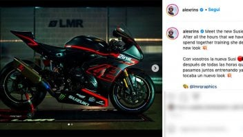 MotoGP: Alex Rins cambia look alla sua Susie, la Suzuki GSX-R 1000 con cui si allena