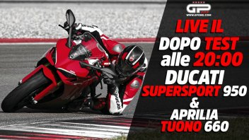 Moto - News: LIVE - Dopo test alle 20:00 - Ducati Supersport 950 e Aprilia Tuono 660
