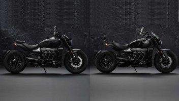 Moto - News: Triumph Rocket 3 R Black e GT Triple Black, ecco i prezzi