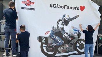 MotoGP: Tribute to Fausto Gresini in Qatar: his photo in the team box