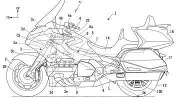 Moto - News: Honda brevetta la moto che controsterza da sola