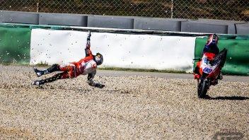 MotoGP: PHOTOGALLERY - Tutte le foto del terribile volo di Jorge Martìn
