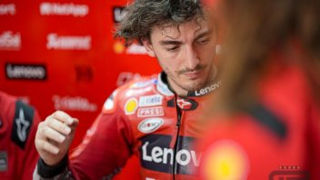 """MotoGP: Bagnaia: """"Ilvento non è un problema per Ducati. Suzuki e Yamaha lo sono"""""""