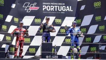 MotoGP: Quartararo, Bagnaia e Mir: sul podio a Portimao e al comando nel box