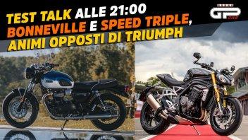 Moto - News: LIVE – Test Talk alle 21:00 – Triumph Bonneville e Speed Triple 1200 RS 2021