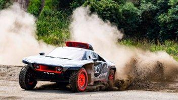Auto - News: Audi RS Q E-Tron: l'elettrica (con range extender) alla Dakar 2022