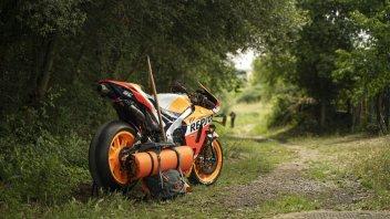 MotoGP: Marquez's Honda goes on holiday: RC213V on the Camino de Santiago