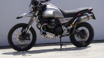 Moto - News: Moto Guzzi V85 TT: con il tocco di Guareschi debutta al MotoRally