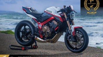 Moto - News: Honda CB650R Custom: annunciata la special ufficiale più bella