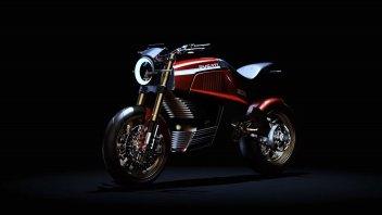 Moto - News: Ducati 860-E Concept, la moto elettrica Ducati secondo Italdesign
