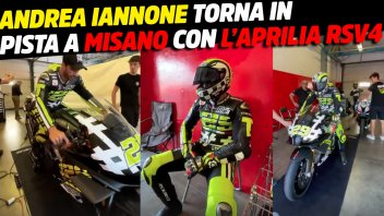 MotoGP: Andrea Iannone at Misano with the Aprilia RSV4: The Maniac doesn't give up