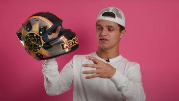 """MotoGP: Lando Norris confesses: """"I copied Valentino for my first helmet"""""""