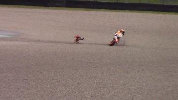 MotoGP: VIDEO. The Marquez's crash at the Mugello test
