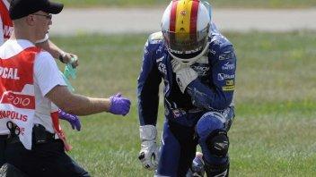 Moto - News: Debon: clavicola fratturata, addio GP