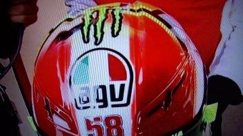 Moto - News: Il casco di Rossi per il Sic