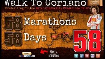Moto - News: WalktoCoriano: 58 maratone in 58 giorni