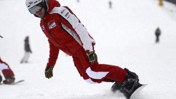 Moto - News: I ducatisti già in pista... sugli sci