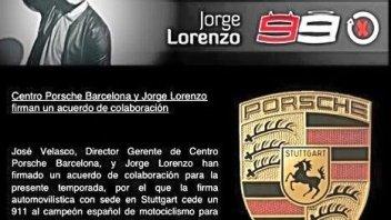 Moto - News: Lorenzo tentato dalla Porsche Cup