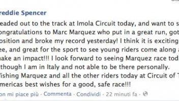 Moto - News: Spencer si congratula con Marquez