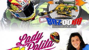 Moto - News: Baz: casco all'asta per Lady Polita