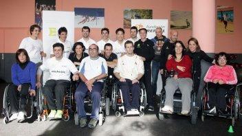 Moto - News: Marquez promoter dello sport per disabili