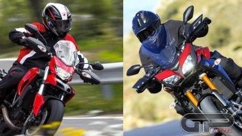 Moto - Test: Tracer Vs Hyperstrada: fame di curve