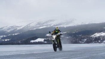Moto - News: Husqvarna 701 Supermoto Ice Riding Experience