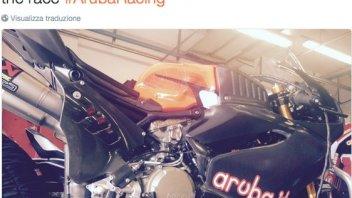 Aruba-Ducati team test in Misano
