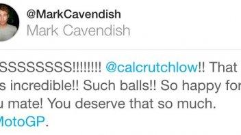 "Mark Cavendish omaggia Crutchlow: ""ha due palle così"""