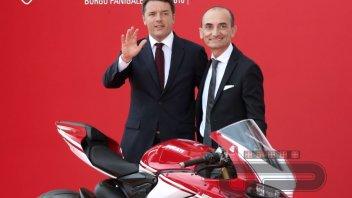 Renzi e Domenicali inaugurano il nuovo museo Ducati