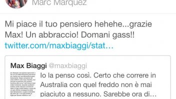 Biaggi tweets, Marquez thanks him