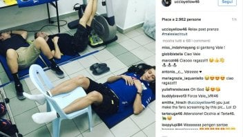 Valentino at Sepang for testing, work and relax ..