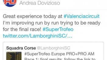 Dovizioso 8th with the Lamborghini in Gara1
