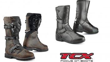 Moto - News: TCX ed i nuovi Spoke e Drifter WP: dal touring all'on-off
