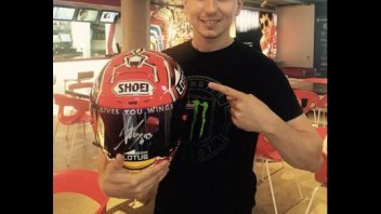 MotoGP: Marquez gives Lorenzo his helmet