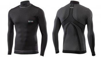 Moto - News: Sixs: TS4 Plus e STX High Neck, arriva il Carbon Uderwear